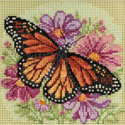 Winged Monarch Beaded Counted Cross Stitch Kit Mill Hill 2015 Buttons & Beads Spring MH145105