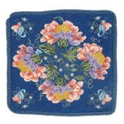Candamar Designs 30941 Jacobean Pillow Needlepoint Kit