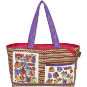 Laurel Burch Shoulder Tote, 22 by 10cm by 30cm , Karly's Cats