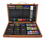Strokes Art Beginners Deluxe Art Set 80-Piece Great Gift for Drawing and Painting
