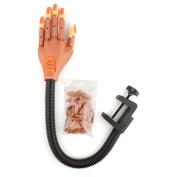 Beauticom USA Flexible Nail Trainer Hand with 100 pcs Hand Nail Tips