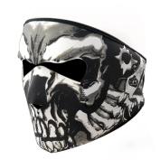 Graphic Style Skull Assassin Black Neoprene Adjustable 2 in 1 Reversible Full Face Mask Motorcycle Snowboard Ski