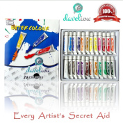 Watercolour Paint Set * Great Value 24 Non-Toxic Artist 12ml Paint Tubes * Most Popular Assorted Vivid Colours * Perfect coverage with durable pigment and dense opacity - Water Soluble Characteristics - High Quality.