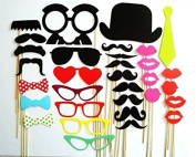32 Pieces/set New Year Party Novelty Moustache Mask Photographing Props by Kitty-Party Wedding Supplies Creative Funny Props by Kitty-Party