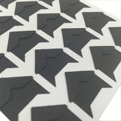 Hellohelio Self-Adhesive Photo Corners (Pack Of 240) Black