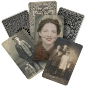 Found Relatives Vintage Portraits by Tim Holtz Idea-ology, 13cm x 7.6cm , Pack of 24 Photos, TH93121