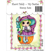 My-Besties Clear Stamps, Trixie and Kitty Spider, 10cm by 15cm