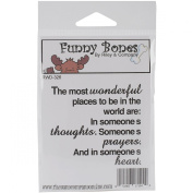 Riley & Company Funny Bones Cling Mounted Stamp 7cm x 5.7cm -The Most Wonderful Places To Be