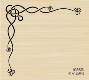 Shamrock Vine Corner Rubber Stamp By DRS Designs
