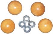 Edmunds Handi Clamp Wooden Ball Knobs, 4-Pack