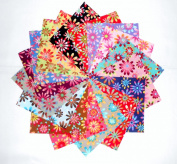 60 13cm Bright Retro Flowers Charm Pack