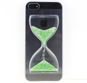 New Arrival Sand Clock Hourglass Timer Transparent Hard 3d Case Cover Shell for Iphone 6 (12cm )+match One Screen Protector Film Guard