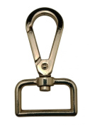 Generic Metal Golden Lobster Clasps 2.5cm Inside Diameter D Swivel Trigger Clips Hooks for Purse Bag Straps Pack of 6