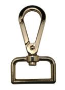 Generic Metal Golden Lobster Clasps 2.5cm Inside Diameter D Swivel Trigger Clips Hooks for Purse Bag Straps Pack of 6