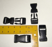 2.5cm Plastic Quick Release Buckle, Clip, Side Release, 4 Piece Set
