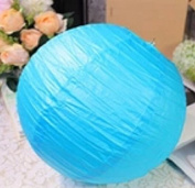 Domire 12 Pcs 25cm Sky Blue Chinese Paper Lanterns/lamps for Parties, Weddings