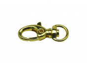 Generic Metal Colour Golden Lobster Clasps 0.9cm Inside Diameter Oval Swivel Trigger Clips Hooks for Purse Bag Straps Pack of 20