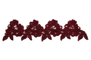 Altotux 8.9cm Red, Royal Blue, Burgundy, Green Embroidery Beaded Lace Trim