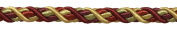 9 Yard Value Pack of Large WINE GOLD Baroque Collection 1.1cm Decorative Cord Without Lip Style# 716BNL Colour