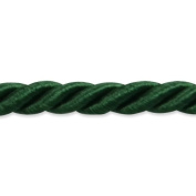 Expo International 20-Yard Charlotte Twisted Cord Trim Embellishment, 0.5cm , Hunter Green