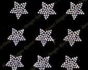 Set of 9 Small Stars Clear Rhinestone Iron on Transfer stars bling