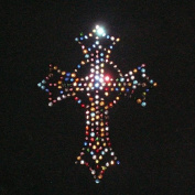 Multi Cross Iron On Rhinestone Crystal Transfer