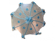 90cm White Lace Baby Babies Shower Umbrella Blue Stroks & Pacifiers