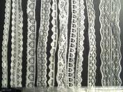 20m of Asstd White Vintage Lace Bridal Wedding Trim Ribbon, Craft, Card Making