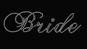 Bride Rhinestone Iron On T Shirt Design