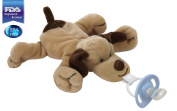 CuddlesMe Pacifier with Detachable Plush Dog, FDA Listed Medical Device