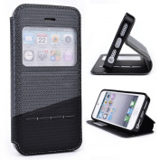 Grey / Black Slide Auto Answer Stand Case for Apple iPhone 5 / 5s