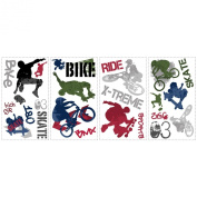 ROOMMATES RMK1690SCS Extreme Sports Peel and Stick Wall Decals