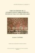 Vers une Edition de la Liturgie Longue Zoroastrienne [FRE]