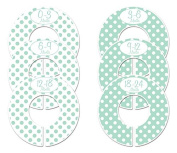 #C147 Mint Boy Baby Closet Dividers Clothes Organisers Set of 6 Polka Dots