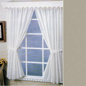 Linen Fabric Water Repellent Window Curtain