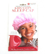 Donna Premium Collection Kids Satin Sleep Cap #11099 Red