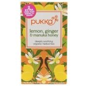 Pukka Herbs Lemon Ginger Manuka Honey Tea 20 Sachet x 1 by Pukka Herbs