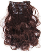 Onedor 50cm Curly Full Head Clip in Synthetic Hair Extensions 7pcs 140g