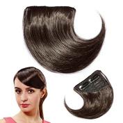 Enjoydeal Fashion Girl Dark Brown Hair Clip In Side Fringe/Bangs Extension Haipiece