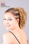 APLUS UNI Drawstring Ponytail Extension Hair Synthetic Wavy Hairpiece GOGOPONY Colour#613 - Yellow Blonde