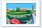 Wrigley Field Matted Print, 11 X 14