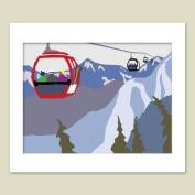 Gondola Matted Print, 11 X 14