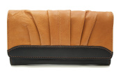 Ashlin Genuine Leather Ladies' 18cm Clutch Wallet, Colorblokcing