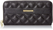 Anne Klein Shimmer Down Zip Around Wallet