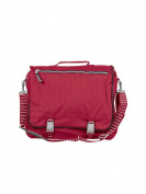 Grizzly. Silverline - Mens Contrast colour shoulder bag in red, navy or black. Double front pockets