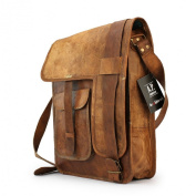 A.P. Donovan - Leather shoulder bag handcrafted leather care BALLISTOL - 36cm x 30cm x 10cm