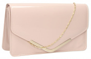 Paris Patent Envelope Style Evening Prom Party Bridal Clutch Bag -- SwankySwans
