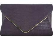 Ladies Animal Print Flat Envelope Evening Clutch Bag