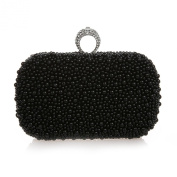 TopTie One Rhinestone Ring Clutch Case Faux Pearl Encrusted Bridal Purse