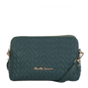 Claudia Canova - Twin Sectioned Zip Top Cross Body - 82135 - Green